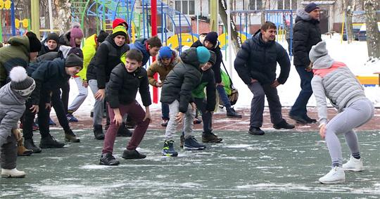 Бежичане вышли на зимнюю зарядку!