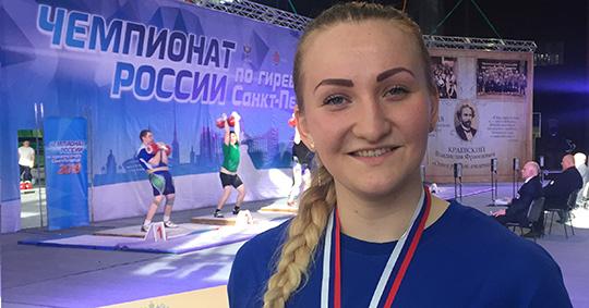 Эльвира Вильченко завоевала бронзовую медаль на чемпионате России по гиревому спорту