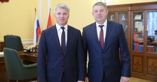 Александр Богомаз встретился с Министром спорта России Павлом Колобковым