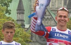 Александр Большунов опередил Йоханеса Клэбо в финале лыжероллерной многодневки Toppidrettsveka