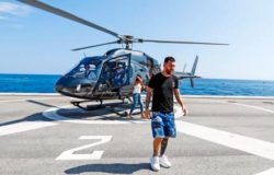 Месси прибыл на церемонию жеребьевки ЛЧ на вертолете