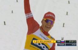 Александр Большунов оформил золотой дубль на этапе лыжного Кубка мира в Чехии
