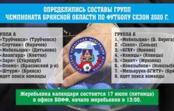 Сформирован состав групп чемпионата Брянской области по футболу