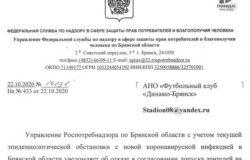 """Матч в Брянске с """"Балтикой"""" пройдет без зрителей"""
