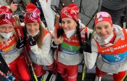Женская сборная России по лыжным гонкам завоевала серебро чемпионата мира